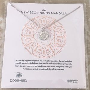 The New Beginnings Mandala Necklace Gift on Card ✨